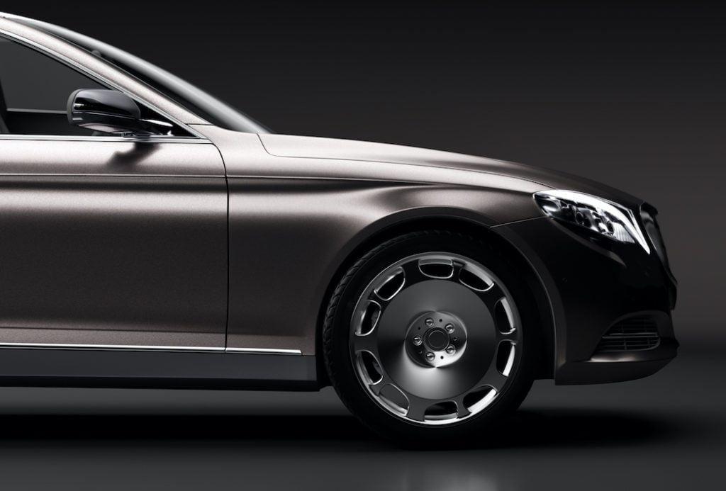 black premium luxury limo car